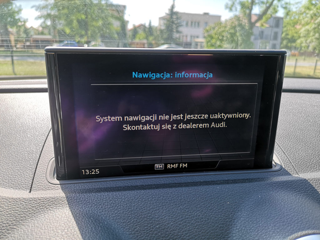 Bład nawigacji w Audi A3 4Mobility