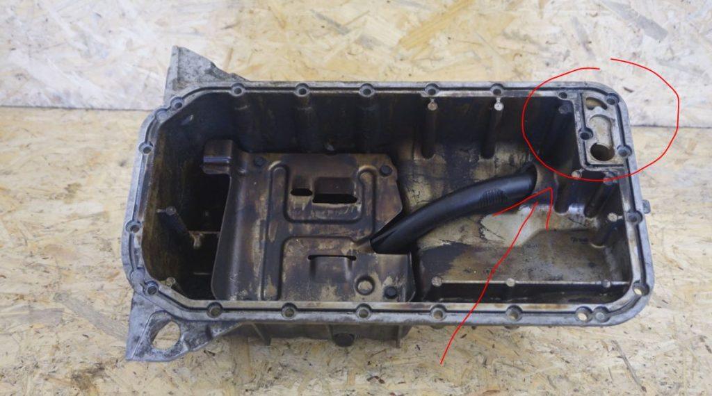 misa olejowa silnika M43