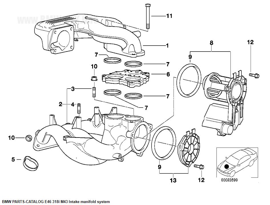 schemat części - kolektor - disa dla m43 m44